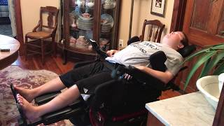 Wheelchair Stretching: Reclined Position