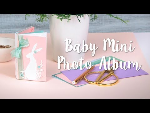 Easy DIY Mini Photo Album for Baby's First Year!