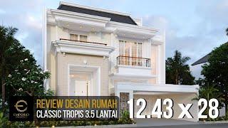 Video Desain Rumah Classic 3.5 Lantai Ibu Wiena di  Jakarta Selatan