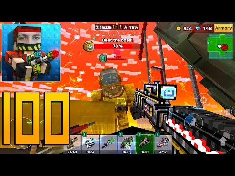 Pixel Gun 3D - Gameplay Walkthrough Part 100 - Raid