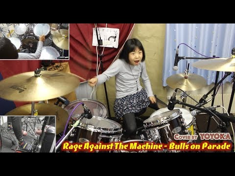 9-year old girl kills it on the drums | Bulls on Parade - RATM