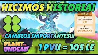 Hicimos Historia! Cambios Importantes En Plant Vs Undead! 1 Pvu= 105 Le