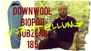 Schlafsack: Downwool Biopod Subzero 185 | von Grüezi Bag