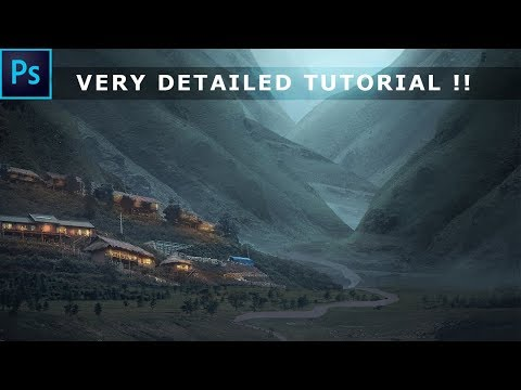 very detailed matte painting tutorial by photoshop hustler