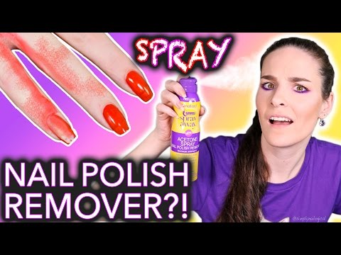 WTF Spray Nail Polish Remover?! *do not breathe*