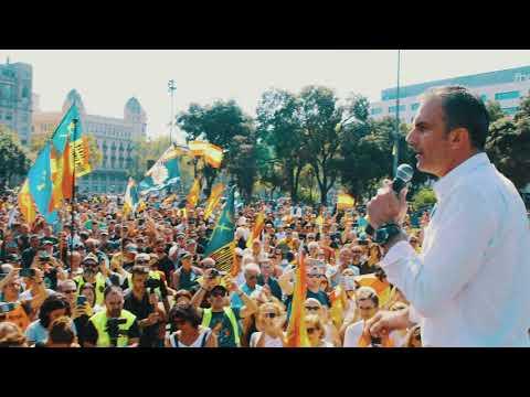 Emotivo discurso de Javier Ortega ante policías y guardias civiles en Barcelona   JUSAPOL