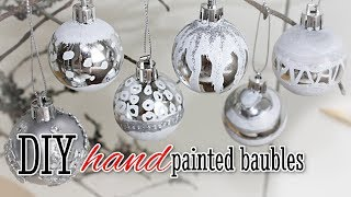 DIY Hand Painted Christmas Baubles - Easy To Make Ornaments