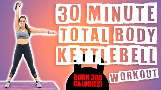 30 Minute Total Body Kettlebell Workout  by Sydney Cummings