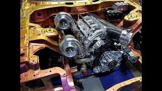 4 rotor twin turbo 1400hp engine build mazda Rx7 Defined Autoworks
