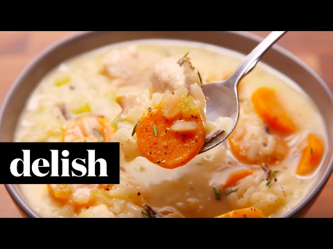 Creamy Chicken and Rice Soup | Delish