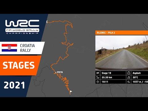 WRC 2021 第3戦ラリー・クロアチア 全SSのコース紹介動画