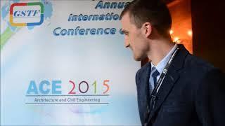 Mr. Wojciech Dulinski at ACE Conference 2015 by GSTF Singapore
