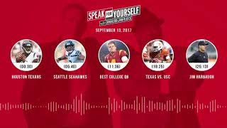SPEAK FOR YOURSELF Audio Podcast (9.13.17) with Colin Cowherd, Jason Whitlock | SPEAK FOR YOURSELF