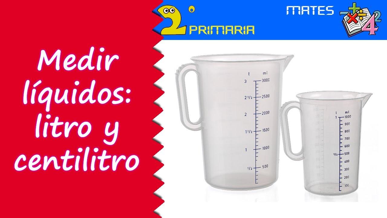 Matemáticas. 2º Primaria. Tema 2. Medir los líquidos. Litro y centilitro