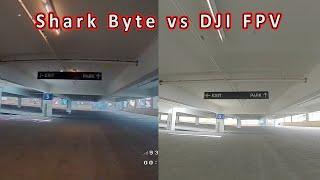 Shark Byte vs DJI FPV in a Parking Garage ????