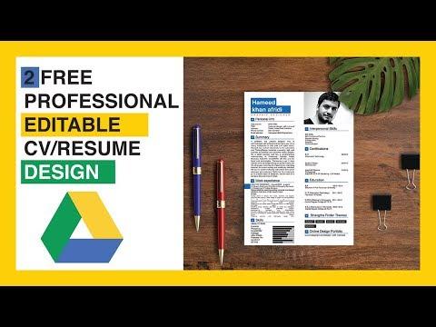 Creative CV/Resume design in Adobe Illustrator CC | Free curriculum template