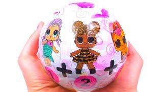 Новый Китайский БОЛЬШОЙ LOL Подделка 3 Куклы ЛОЛ В 1 Шаре Дешевая Копия Шариков FAKE LOL SURPRISE