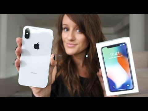 iPhone X Silver Unboxing!