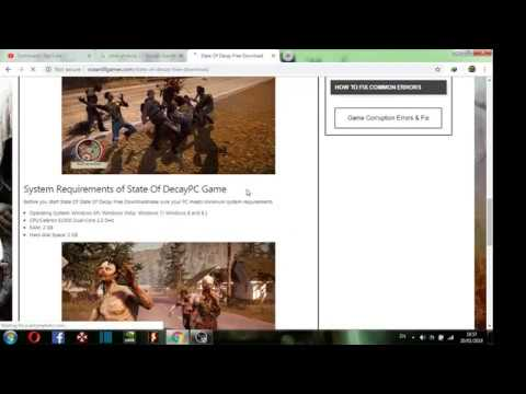 How to download state of decay highly compressed for PC and