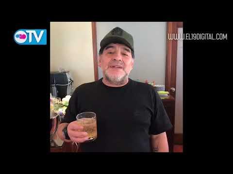 Diego Maradona felicita al comandante Daniel por la victoria en elecciones municipales