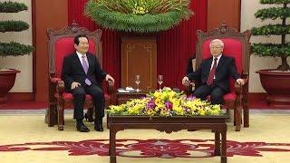 Tổng Bí thư Nguyễn Phú Trọng tiếp Chủ tịch Quốc hội Hàn Quốc Chung Sye-kyun