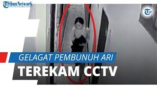 Mondar-mandir dengan Pisau di Punggung, Gelagat Aisyah, Pembunuh Ari Selebgram Makassar Terekam CCTV