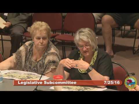 Legislative Subcommittee 7.25.16