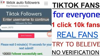 1 click 1000 fans|| how to increase real fans on tiktok