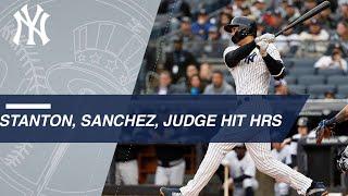 Stanton, Sanchez, Judge all homer in the Bronx - Video Youtube