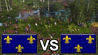 AOE3 with Interjection! British VS Germany on Great Plains