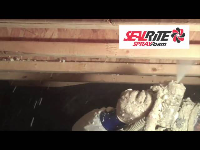 Manasquan, NJ - SealRite Spray Foam's John Achille walked the Sprayfoam.com crew through a residential insulation job in this 30...