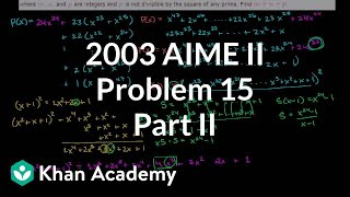 2003 AIME II Problem 15 (part 2)