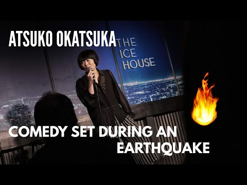 Earthquake hit right when comedian come on stage to do a set.