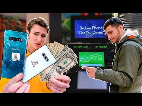 Selling a Galaxy S10 to the EcoATM Machine