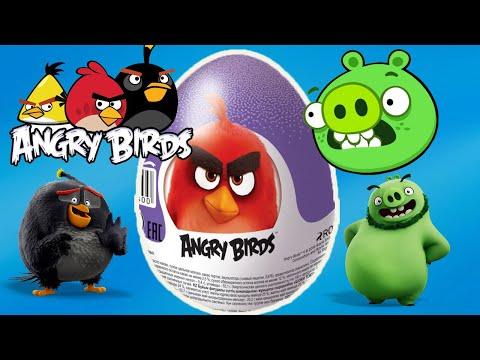 Сюрпризы Шоки Токи Серия Энгри Бердс 2020 Angry Birds 2020 Распаковка Киндер Сюрпризов