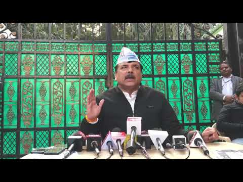 AAP RS Member Sanjay Singh Gives Byte on National Council Meeting