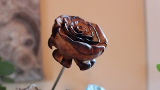 Carving A Wooden Rose With Dremel