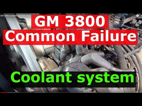 GM 3800 Coolant leak Belt Tensioner  Elbows Water Pump and thermostat replacement