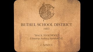 Bethel's 1950s inspired Back to School filmstrip!