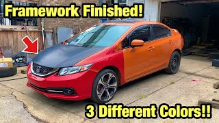 Rebuilding My Totaled Wrecked 2015 Si Childhood Dream Car From Salvage Auction, Framework Finished