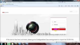 How to reset a Hikvision  password using the GUID file on web interface