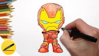 Смотреть онлайн Как нарисовать железного человека в стиле чиби