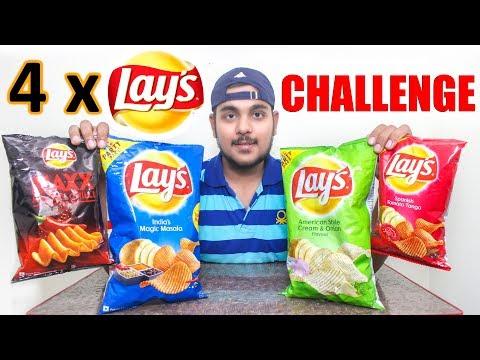 Lays Potato Chips Eating Challenge India   Food Challenge India