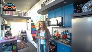 She Downsized Her Life & Moved Into A Gorgeous Tiny Home -Tour & Tiny Living Insights