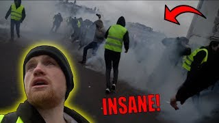 WE WENT TO THE PARIS RIOTS!! *YELLOW VEST PROTESTS*