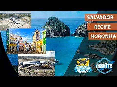Video [xp11] Boeing 737-800 Zibo | Salvador - Recife - Noronha