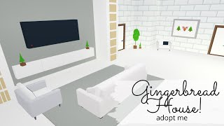 🌲Gingerbread House! ADOPT ME! SPEED BUILD + TOUR🌲(2 PART)