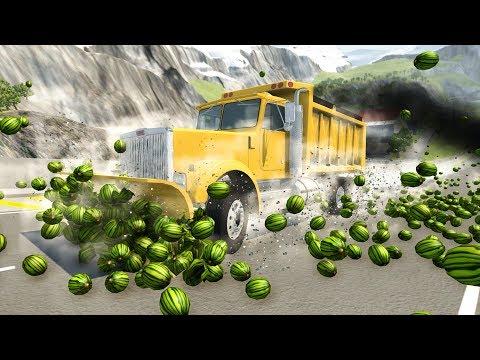 BeamNG Drive - WATERMELON APOCALYPSE #3 CrashTherapy