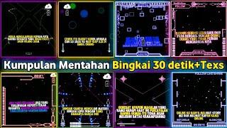 Mentahan bingkai Quotes 30 detik + teks terbaru |free download