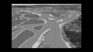 preview picture of video 'Flight over the Danube to Vienna 1570 (retro) - Flug über die Donau nach Wien 1570 (retro)'